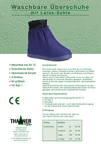 Washable overshoe with latex sole to protect against dirt, for post-surgical shoes and plaster casts